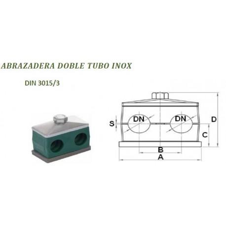 ABRAZADERA DOBLE TUBO INOX